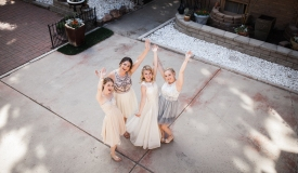 NordWeddings Missoula Montana Wedding Photography Friends Waving